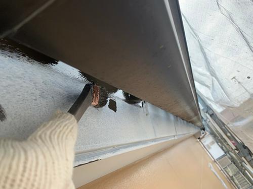 小牧市Y様 雨樋:下塗り 完了、鼻隠し:中塗り 完了